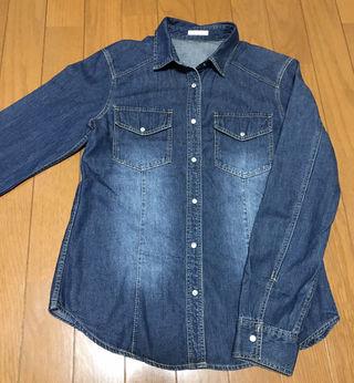 《未使用》GU デニムシャツ ブルー S