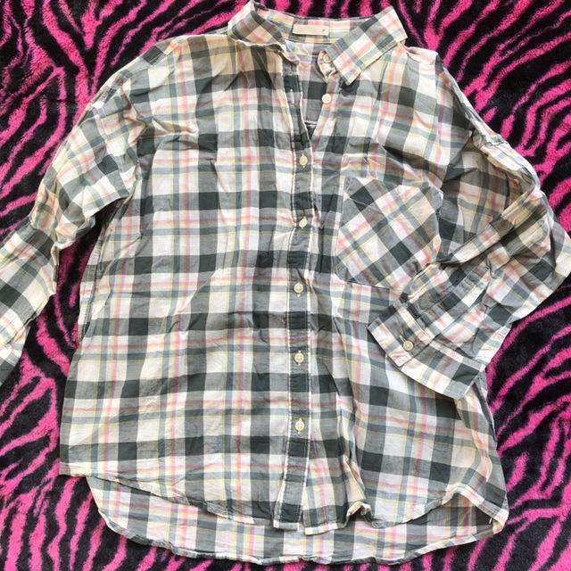 GUチェックシャツ(GU(ジーユー) ) - フリマアプリ&サイトShoppies[ショッピーズ]