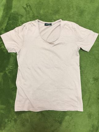 ナノユニバースくすみピンク 半袖Tシャツ ピンクベージュ