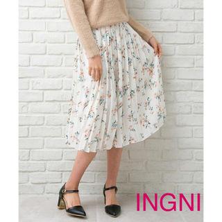 花柄JZプリーツスカート