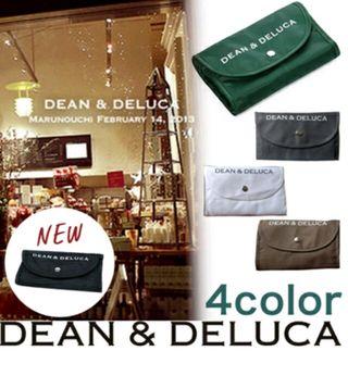 DEAN&DELUCA携帯便利折り畳み式エコバッグ(緑)