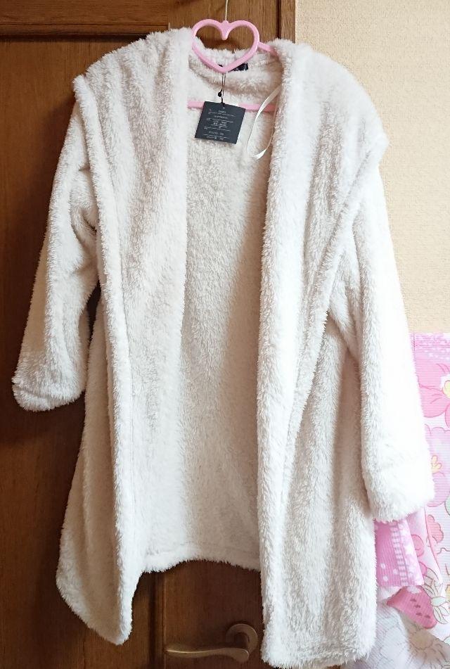 フード付きモコモコ ロングコート