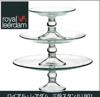 ロイアル・レアダム三段スタンド(ガラス製)