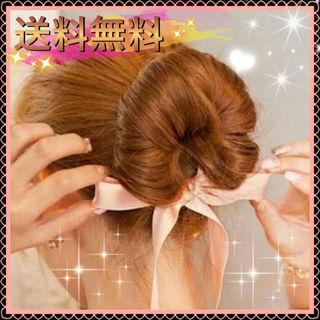 新品★手軽におしゃれ髪★2WAY シニョンおだんごリボン