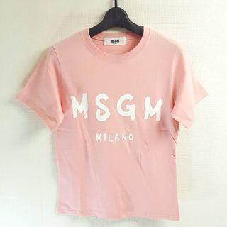 新作MSGM系 半袖Tシャツ(薄ピンク×ホワイト)