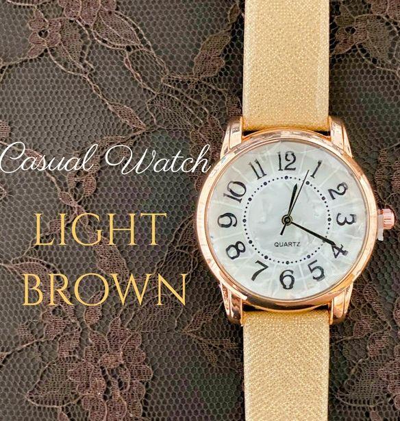 新作 レディース 腕時計 クォーツ ブラウン×ゴールド