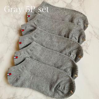 靴下 グレー 5足セット ソックス ワンポイント socks