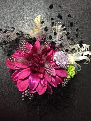 成人式 髪飾り お花 振袖 ヘアアクセサリー