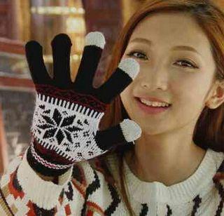 おしゃれ で かわいい手袋 レディース スマホブラック