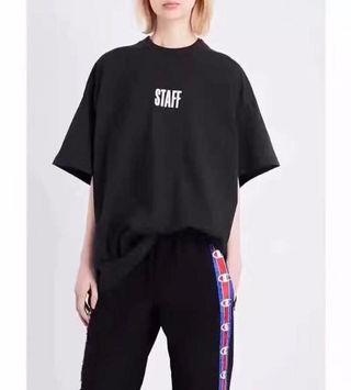 ヴェトモン Tシャツ 半袖 2色ブラックVYF-0580