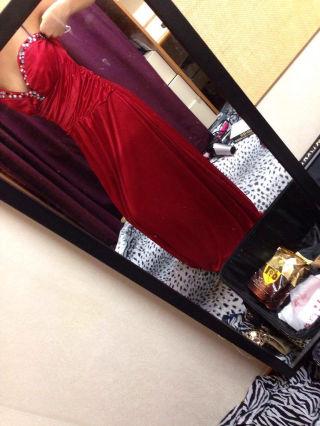 ロングレッドドレス