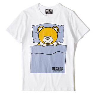 人気 moschinoモスキーノ2018新品Tシャツ