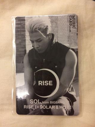BIGBANG music カード ヨンベ