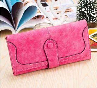 人気 おすすめ  スウェード  長財布 ピンク