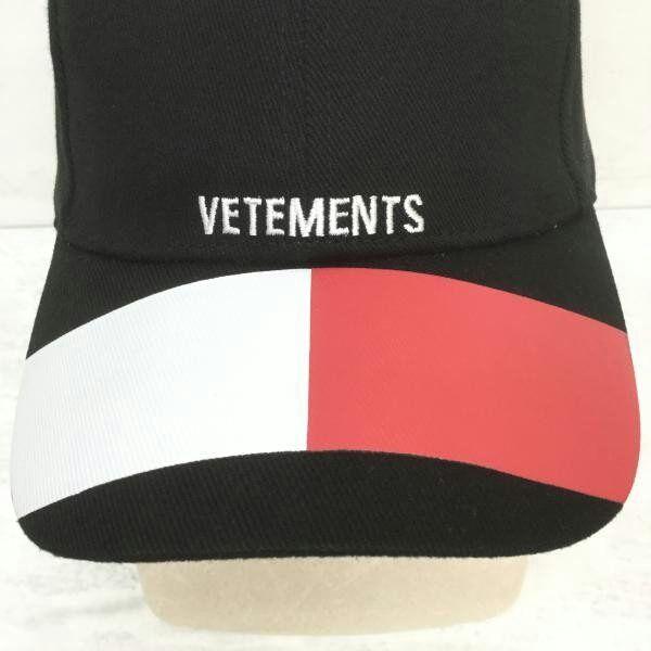 ヴェトモン キャップ VETEMENTS ブラック (VETEMENTS(ヴェトモン) ) - フリマアプリ&サイトShoppies[ショッピーズ]