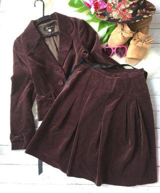 レストローズベロア風リボンジャケット×スカート×スーツ