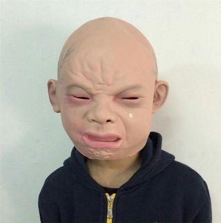 ガキの使い 風 赤ちゃん泣き顔マスク!爆笑間違いなし!