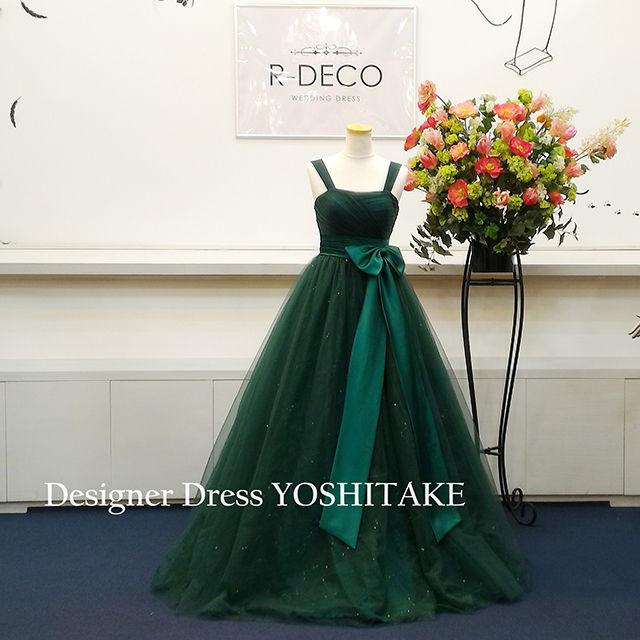 演奏会ドレス(Aラインパニエ無料サービス) グリーンカラー - フリマアプリ&サイトShoppies[ショッピーズ]