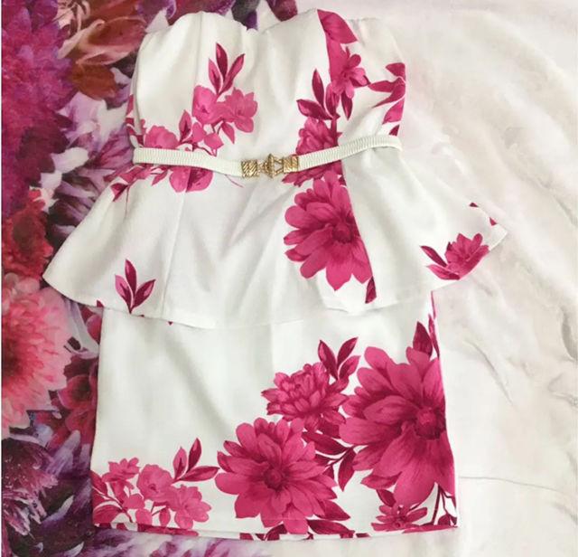 デイライルノアール  ワンピース 花柄  ミニワンピ