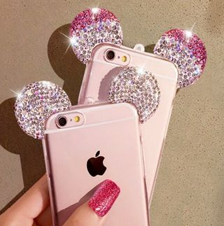iPhone8 7 6 5 ケース キラキラ マウス ケース