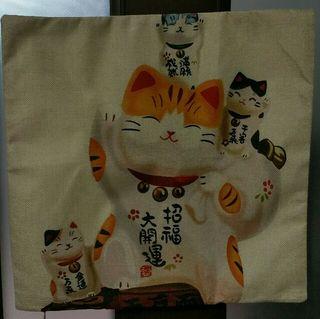 開運招き猫クッションカバー