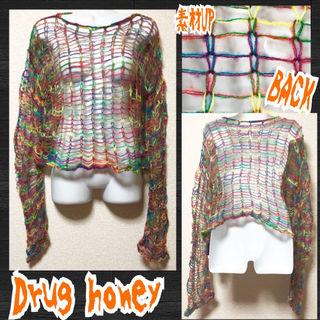 【新品/Drug honey】フィッシュネットニット