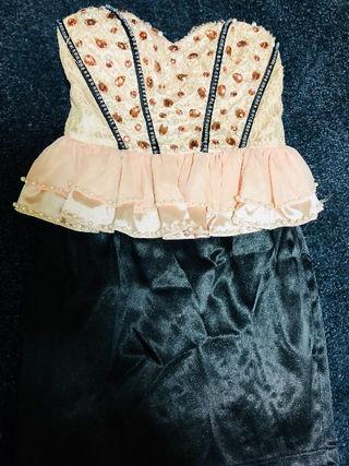 an ペプラム ミニドレス