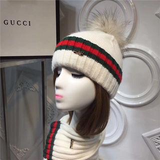 GUCCI 新作 ニット帽子 マフラー 二セット 高品質