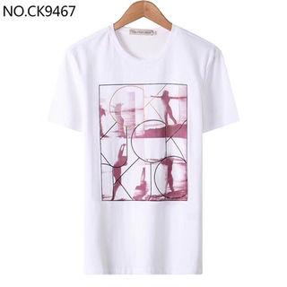 100%コットン 夏Tシャツ 男女 半袖 CK