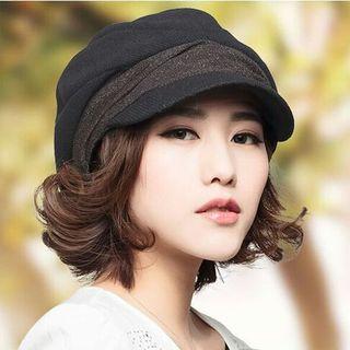 ブラック小顔効果 防寒 キャスケット 帽子 レディース 女性