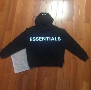 サイズL黒反射光りfog essentials パーカー