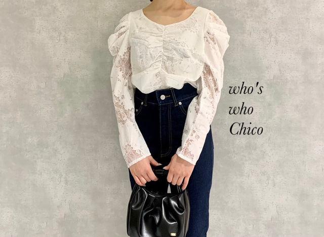 新品who's who Chico レースパワショルブラウス(who's who Chico(フーズフーチコ) ) - フリマアプリ&サイトShoppies[ショッピーズ]