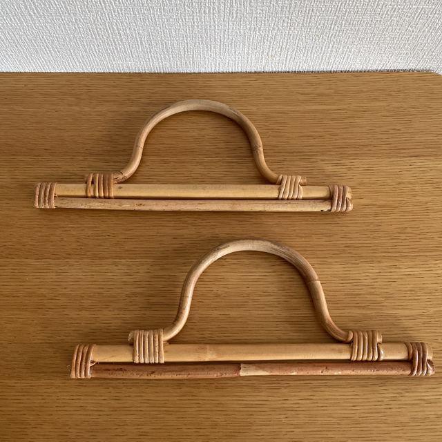 手持ちバッグ素材2個(ハンドメイド用素材:竹)