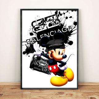 ミッキー/バレンシアガ/インテリアアートポスター