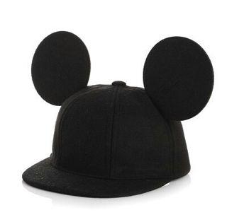 子供用耳付き帽子 かわいいミッキー風キャップ [ブラック]