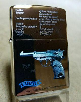 新品02K'ZippoワルサーP-38ギフト公認モデル