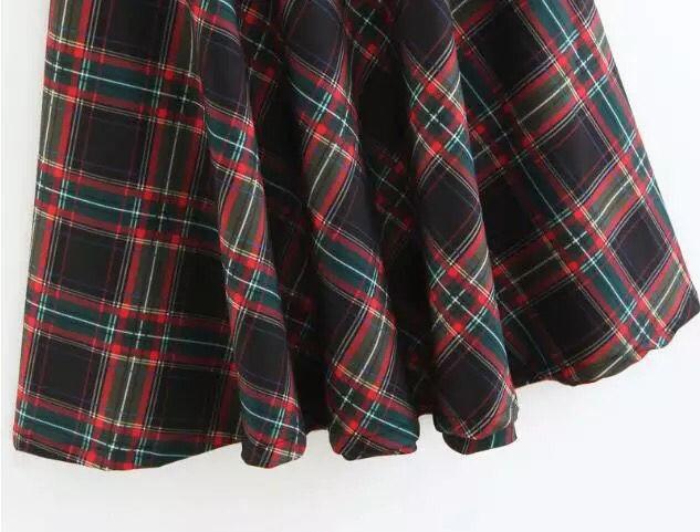 2018年 秋 冬 チェック柄 ロングスカート  おしゃれ