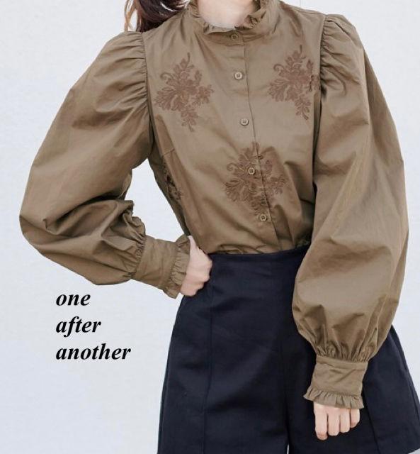 新品one after another プチハイ刺繍ブラウス(NICE CLAUP(ナイスクラップ) ) - フリマアプリ&サイトShoppies[ショッピーズ]
