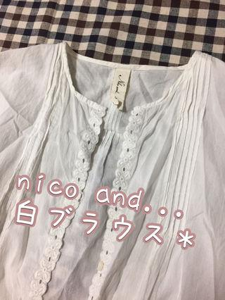 ニコアンド nico and...デザインブラウス *シャツ