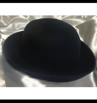 中古ネイビーハット帽子 シンプルハット ウールハット