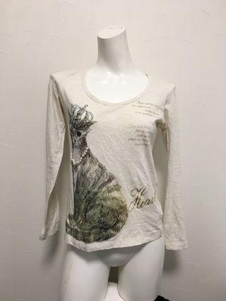 猫のTシャツ Ray cassin