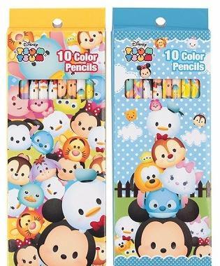 Disney ディズニー ツムツム 色鉛筆10色 2パック
