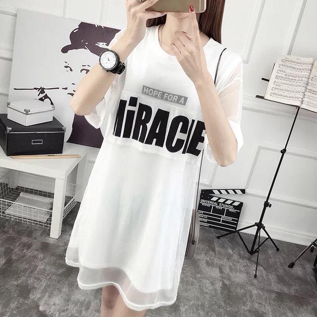 韓国系 ストリート系 ビックTシャツ