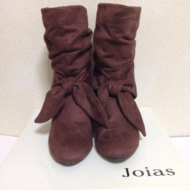 joiasくしゅくしゅリボンブーツ(Joias(ジョイアス) ) - フリマアプリ&サイトShoppies[ショッピーズ]