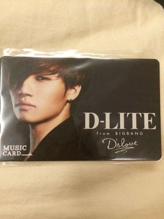 BIGBANG テソン ミュージックカード
