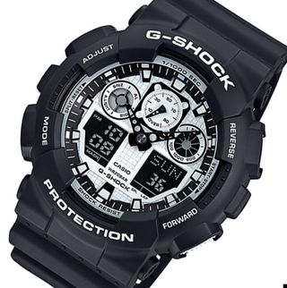 カシオ CASIO ジーショック ホワイト&ブラック 時計