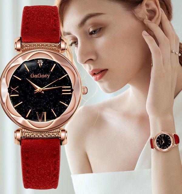【新商品】レディース腕時計クォーツ海外限定赤色
