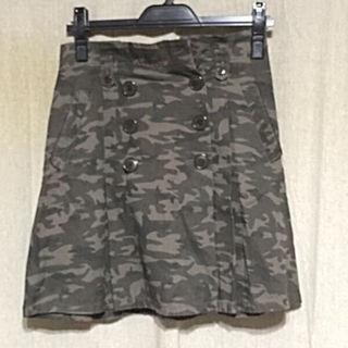 KUMIKYOKU迷彩柄ひざ丈スカート
