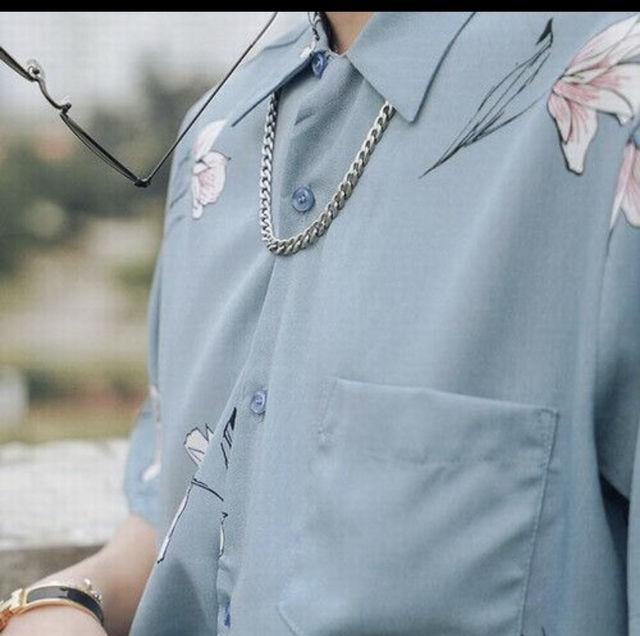 花柄 半袖  シャツ