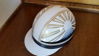 新品塗装 白金 富士日章 コルク半 ヘルメット 三段シート